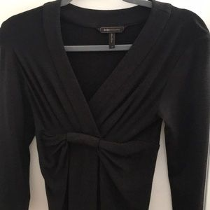 Black 3/4 sleeve below the knee knit dress